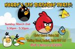 Personalised Angry Birds Invitations